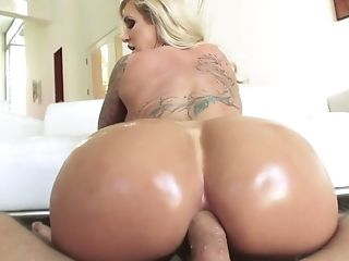 Tattooed Blonde Ryan Conner Deep-throats A Hard Wiry Dick And Gets...