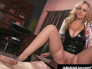 Boy Plaything Gets Moterboated By Big-chested Cougar Julia...