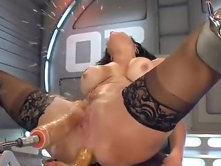 Big Tits Mummy Machinefuck In All Fuck Holes