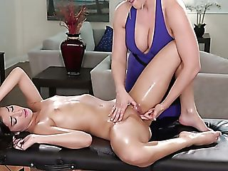 Svelte Fresh Dark-haired Emily Willis Gets Lured By Lusty Blonde...