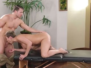 Jaw Ripping Off Mummy Ryan Keely Is Fucked By Hot Blooded Massagist...