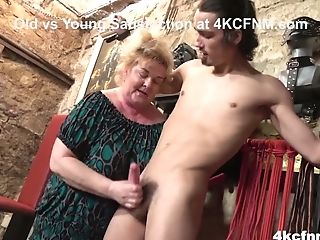 Matures Bbw Tantalizes Youthful Gimp In The Basement