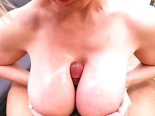 Dee Whips Out Tonys Masculine Stick For Very Hot Titty Have Lovemaking