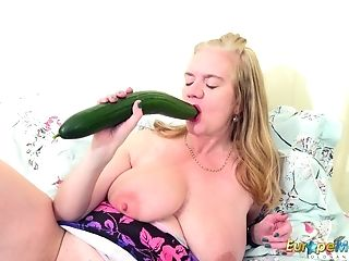 Europemature One Matures Her Cucumber And Her Gear