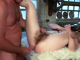 Extreme Hairy German Cougar Gets Her Hairy Beaver Fucked