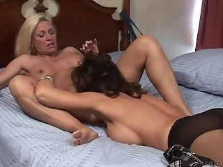 Matures Lesbos Cindy Thirsts & Deauxma Determine To Spice Up...
