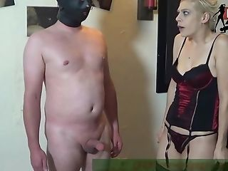 Rough Weenie Spanking With Fuck Toy And German Fem Dom With Mia...