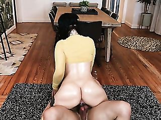 Ardent Whore With Lubricated Giant Booty Stella Raee Is So Into...