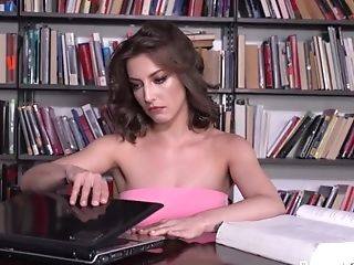 Woman Pisses In The Library