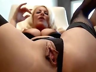 Charming Golden-haired Experienced Lady Tia Layne Was Hardly Drilled