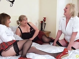 Oldnanny Three Girl/girl Brit Cougar Pornography Actresses