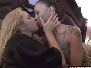Chesty Blonde Matures Gives Daughter-in-law A Sapphic Fuckfest Lesson