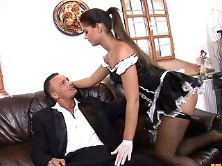 Fhuta - This Wild Maid Lets Her Master Stick It Up Her As