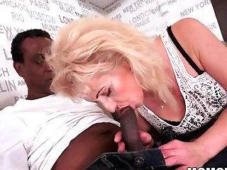 Lusty Granny Loves Black Trunk