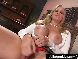 Stepmom Julia Ann Shows Stepson How To Jack His Man Sausage Off!