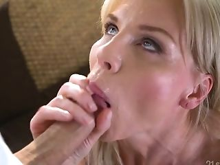 Matures Blonde Nadya Basinger Tempts Youthful Student And A Bangs...