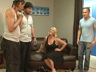 Bbw Joclyn Stone Attempts To Satiate A Few Hot Blooded Studs...