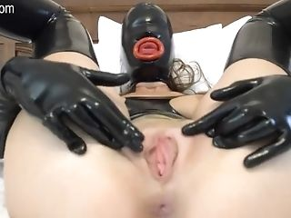 Fledgling Woman In Spandex Masturbates With Her Fake Penis