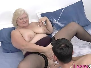 Granny Gets Her Housewife Snatch Shagged Indeed Hard